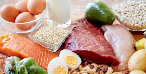 Thoái hóa cột sống nên nhiều protein