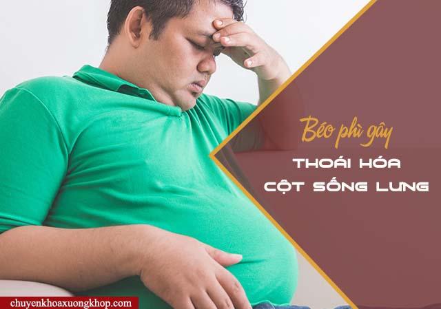 Béo phì là nguyên nhân gây thoái hóa cột sống lưng