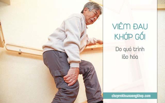 lão hóa là nguyên nhân gây viêm đau khớp gối