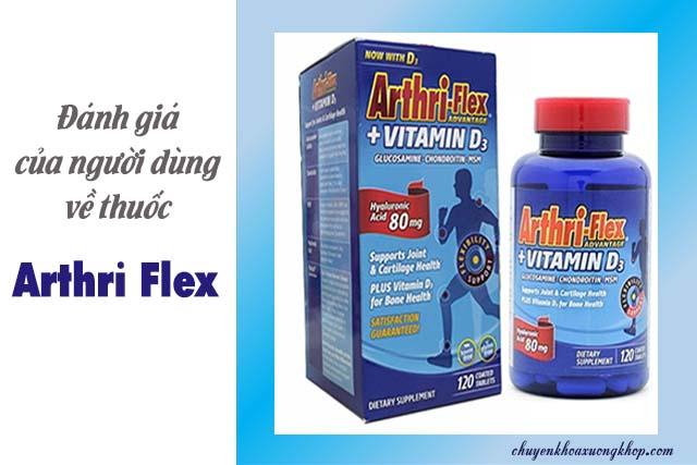 Đánh giá của người dùng về thuốc Arthri Flex