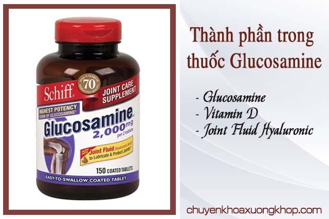 thành phần thuốc Glucosamine trị bệnh viêm khớp