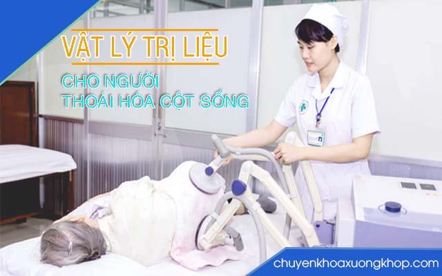 Dùng điện trị liệu chữa thoái hóa cột sống