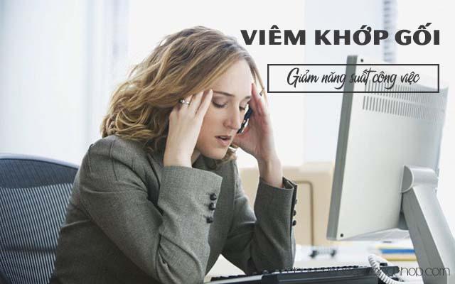 Viêm khớp gối làm giảm năng suất công việc
