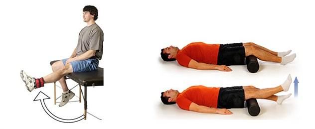bài tập chữa giãn dây chằng đầu gối