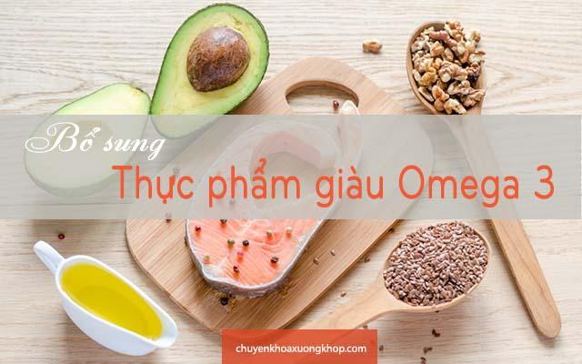 bị tràn dịch khớp gối nên bổ sung thực phẩm giàu omega 3