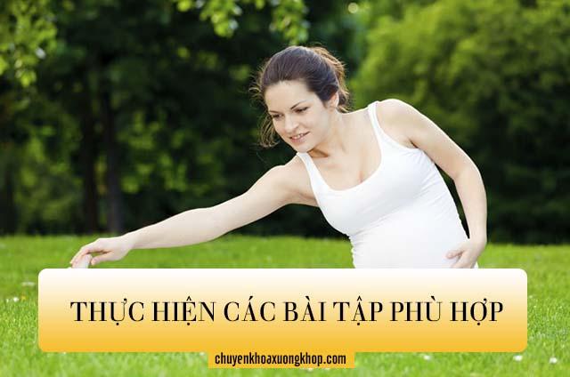Thực hiện các bài tập phù hợp để giảm các cơn đau vai gáy khi mang thai