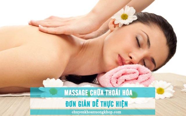 Massage chữa thoái hóa