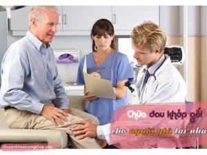 đau khớp gối ở người già.