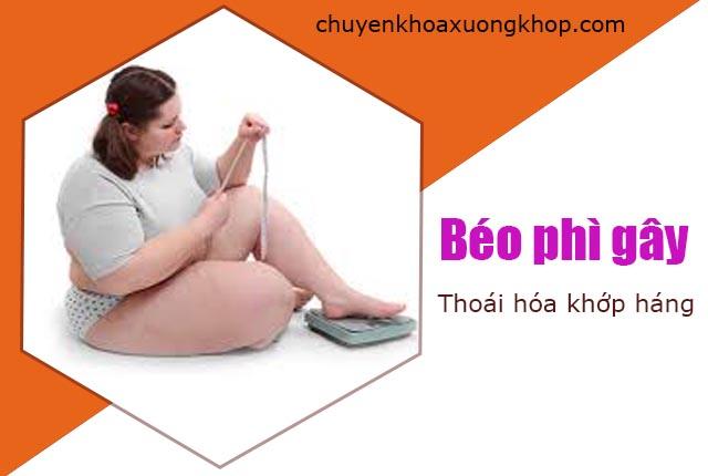 béo phì gây thoái hóa khớp háng