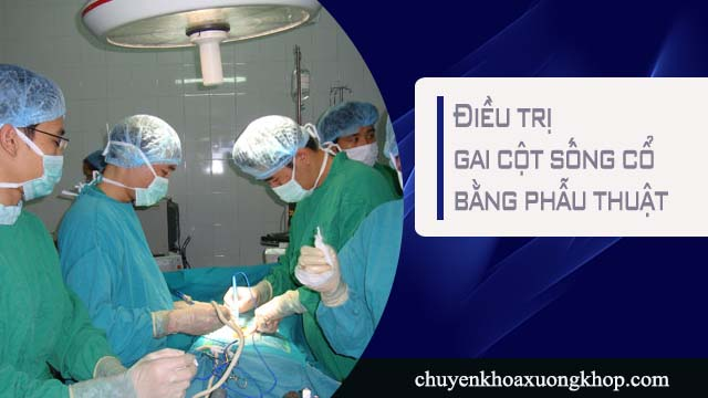 Điều trị gai đôi cột sống bằng phẫu thuật