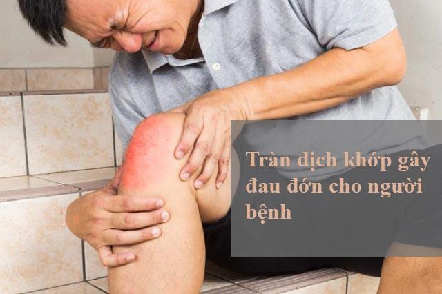 đau do bệnh tràn dịch khớp gối