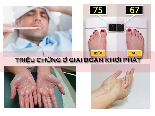 triệu chứng ở giai đoạn khởi phát bệnh viêm đa khớp dạng thấp