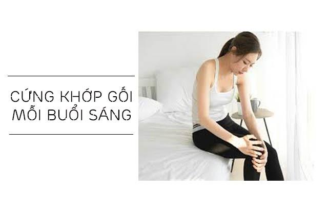 khớp gối cứng sau khi ngủ dậy là dấu hiệu viêm khớp gối