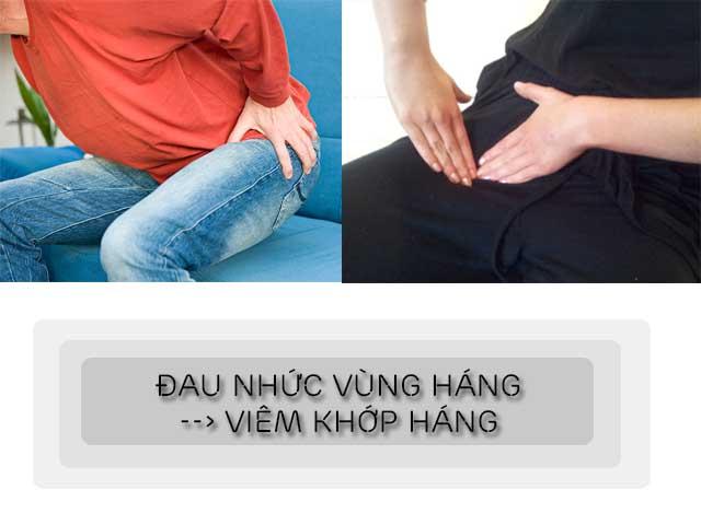 đau vùng háng là một dấu hiệu nhận biết viêm khớp háng