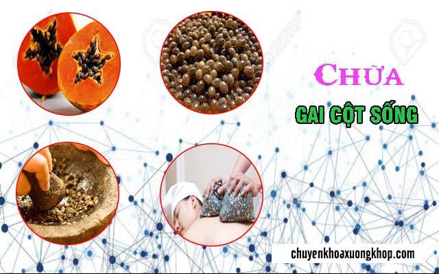 thực hiện chữa gai cột sống bằng hạt đu đủ