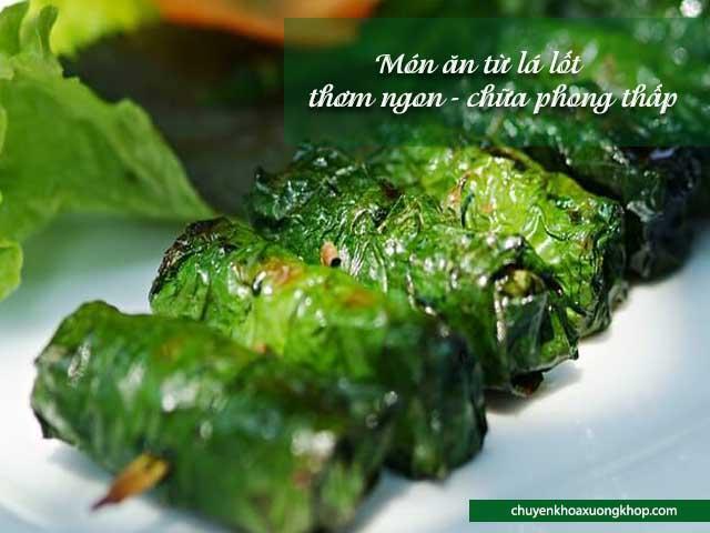 món ăn từ lá lốt chữa phong thấp