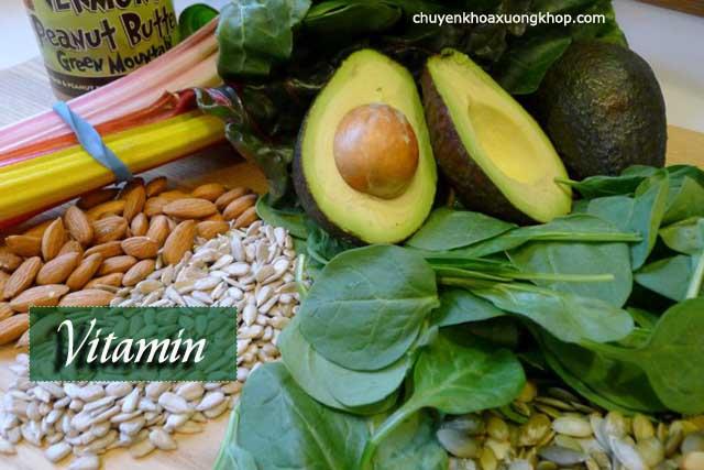 thực phẩm chứa Vitamin tốt cho người bệnh thoát vị đĩa đệm
