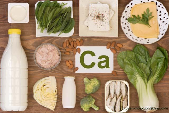 thực phẩm giàu Canxi tốt cho người bị thoát vị đĩa đệm