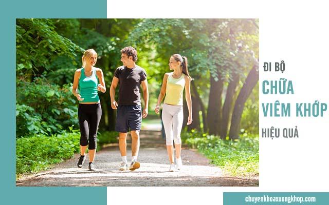 bài tập đi bộ chữa viêm khớp hiệu quả