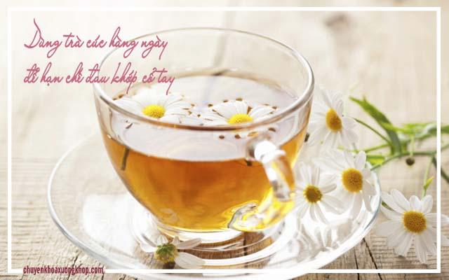 đau khớp cổ tay khi mang thai nên uống trà cúc mỗi ngày