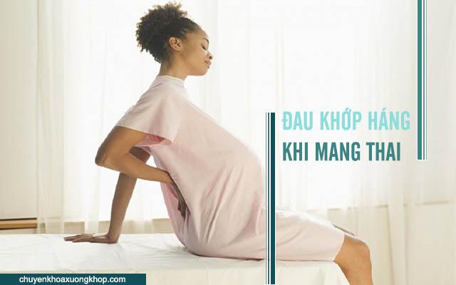 đau khớp háng khi mang thai