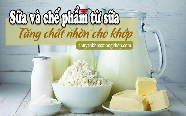 sữa giúp tăng chất nhờn cho khớp