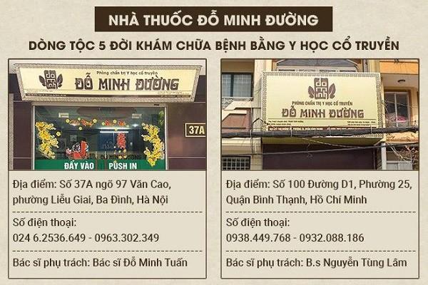 2 cơ sở Đỗ Minh Đường tại Hà Nội và Hồ Chí Minh