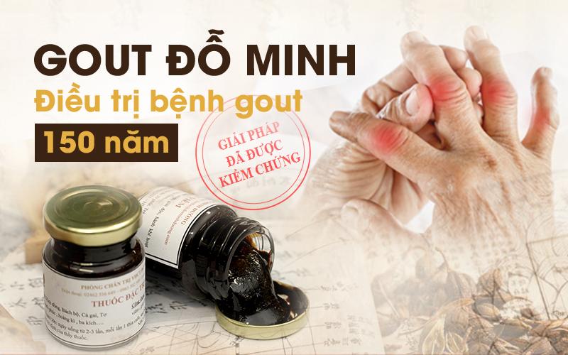 Gout Đỗ Minh - Giải pháp VÀNG cho người bệnh gout